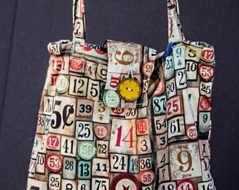 Large Handmade Market Bag with button closure