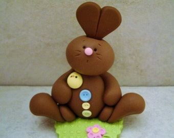 Chocolate Bunny - Chick - Easter Figurine