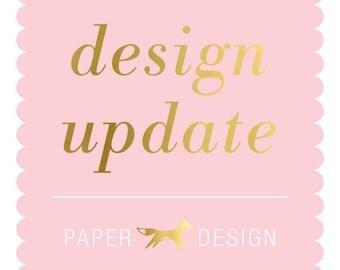 Design Update Fee