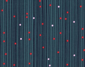 Macrame - Bead Curtain in Deep Sea - Rashida Coleman-Hale for Cotton + Steel - 1932-1
