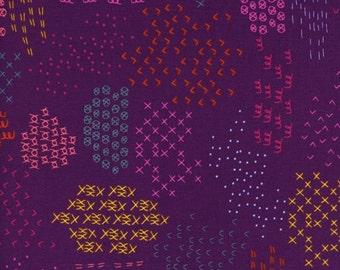 Macrame - Pattern Guides in Grape - Rashida Coleman-Hale for Cotton + Steel - 1931-2