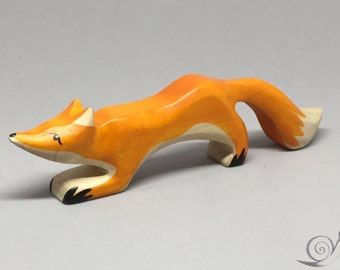 Toy Fox mother orange brown white | Size: 16,0 x 4,5  x 2,0 cm (bxhxs)  approx. 43,5 gr.