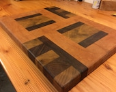 Designer End Grain Cutting Board. US Shipping included.