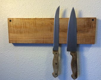 Maple Magnetic Knife Rack. Free US Shipping.