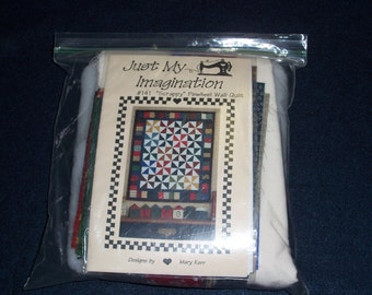 """Wall Quilt Kit...""""Scrappy""""...Pinwheel Wall Quilt...Complete..."""