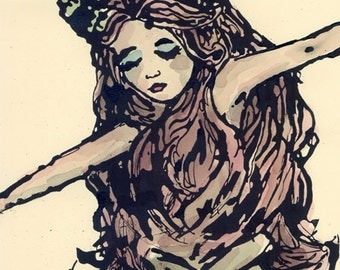Mermaid 11x17 signed print