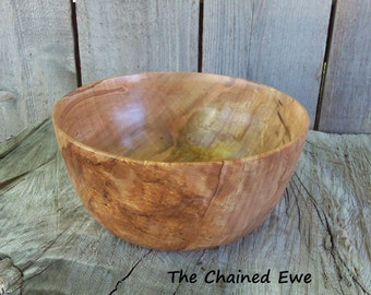 Spalted Maple Bowl, Hand Turned