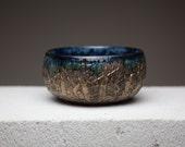RESERVED bronze glaze cracked surface unique tea bowl