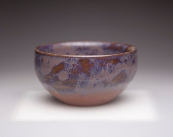 brown violet purple glazed tea bowl