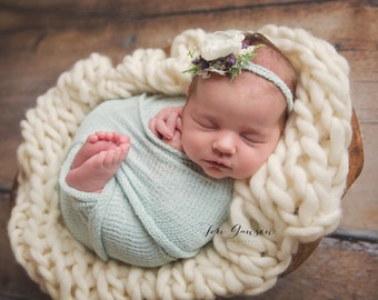 Newborn Blanket Knit Photography Prop Photo Prop Newborn Boy Prop Newborn Girl Prop Luxury Layering Blanket