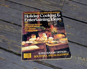 Vintage Cookbook, Better Homes and Gardens, 1976, Retro, Holiday Cooking and Entertaining