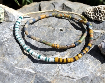 Vintage African Trade Beads, Pressed Glass, Sand Cast, Beads Traveling the Globe, T.39