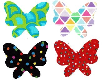 4 Butterfly Iron on appliques DIY - baby shower