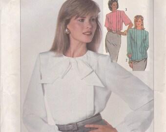 80s Blouse Pattern Simplicity 7807 Size 24 Uncut
