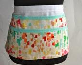 Watercolor apron, Teacher apron, Watercolor utility apron, Women's vendor apron, Watercolor print apron, art teacher apron