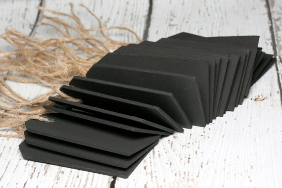 25 Chalkboard Tags with Twine