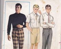 ON SALE 1960's Sewing Pattern - Butterick  5074 Mens Pants, Shorts Waist Size 38 Uncut, Factory Folded