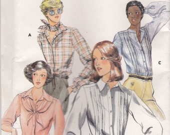 1970s Butterick No 5569 Sewing Pattern for Womens Blouse and Scarf Size 14   Bust 36 inch  Factory Folded Unused