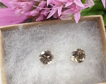 Smoky Quartz Sterling Sliver Earrings