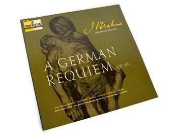 Vintage Brahms Record album A German Requiem 1981 2 Record Set Classical Music Vinyl Record