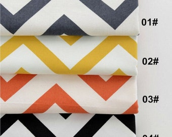 Cotton Canvas Fabric, Citroen Style, Orange Black Yellow Colors for Choice, Colorful fabric 1/2 yard (QT667)