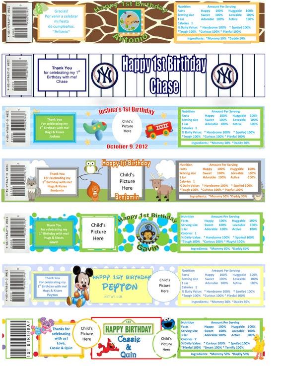 printable baby food jar custom labels by monkeymoodlebowtique
