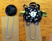 Set of 2 bookmarks-planner clips BLACK