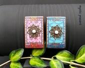 Gypsy Inspired Wood Magnet Set - Bohemian Decor - Gypsy Kitchen Fridge Art - Mixed Media Hand Painted Magnets - Pkg. 2