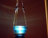 25% OFF 1930's Hemingray 42 Insulator Hanging Macrame Tea Light, Vintage, Home & Garden Decor,