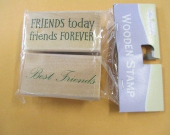 Set of 2 Rubber Stamps Friends For scrapbooking  new stamps Miss Elizabeth