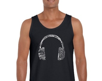 Men's Tank Top - HEADPHONES - LANGUAGES