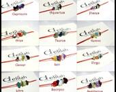 Zodiac Thread Bracelets Horoscope Bracelets Zodiac Jewelry Minimalist Bracelet Birthstone Bracelets Gemstone Bracelet Red Thread Bracelets