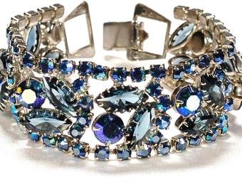 Juliana Weiss Blue AB Rhinestone Bracelet