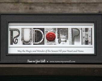 RUDOLPH - Christmas Alphabet Photography Artwork - 7.5x16 inches