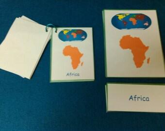 Montessori Cards - CHOOSE THEMES, Montessori Learning, Montessori Materials, Montessori Teacher, Montessori Teacher Gift, Kids, Educational