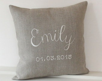 Personalized baby pillow, Name pillow, personalized gift, baby shower, baby gift, Kids pillows, Girls pillow