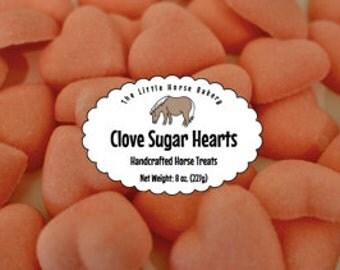 Shipping Included - Clove Sugar Hearts Horse Treats - 8 oz.