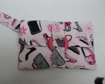 Pretty in pink hand held purse