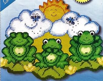 Frog Trio Design Works Plastic Canvas Kit 2012