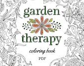 Printable Garden Lovers Coloring Book for Gardeners and Nature Lovers - PDF