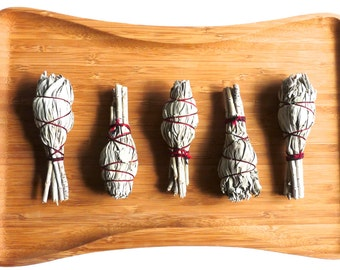 SAGE BUNDLES, smudge set, smudge tool, housewarming, holiday gift, house clearing, feng shui, clear the air, aromatherapy, positive energy,