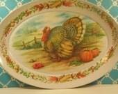 Vintage Brookpark Turkey Platter Melmac Melamine Thanksgiving Platter Vintage 1960s
