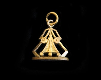 Art Deco Masonic Fob with the Initial K