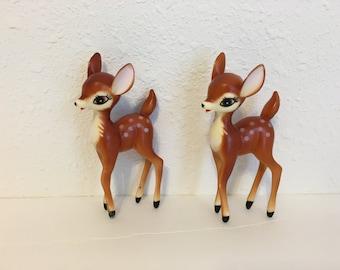 Vintage Plastic Deer, Celluloid Deer Figurines, Vintage Kitsch