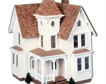 Victorian Wooden Dollhouse Kit, Castle Hill, Half Inch Scale