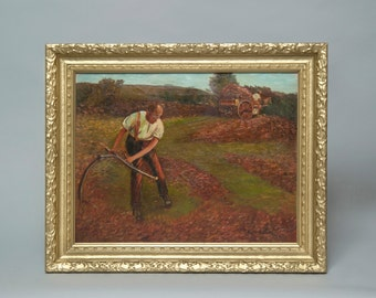 Wheat Harvest Oil on Canvas
