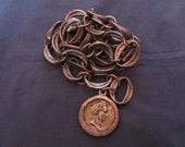 Copper Coin Chain Belt