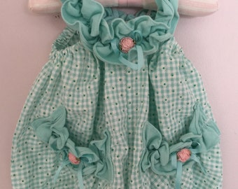 Vintage Baby Girl Cotton Romper