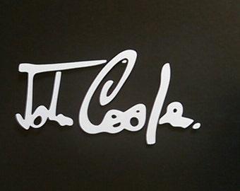 John Cooper Signature Vinyl Decal Sticker