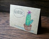 Good Day Cactus // Hand Drawn Card //